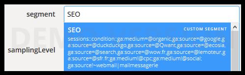 segment via query explorer de google analytics